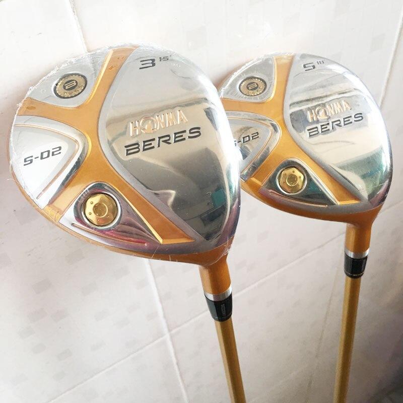 Cooyute New mens Golf clubs HONMA S-02 4 Estrelas 3/15 5/18 Golf madeira Fairway com Grafite eixo madeira set clubes de Golfe frete grátis