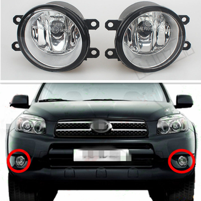 For Toyota RAV4 2006/07/08/09/10/11/12 Car Styling Front Bumper Fog Lamps Original Fog Lights Halogen Lamp 81210-06052 1 set left right car styling front halogen fog lamps fog lights 81210 06052 for toyota rav4 2006 2007 2008 2009 2010 2011 12