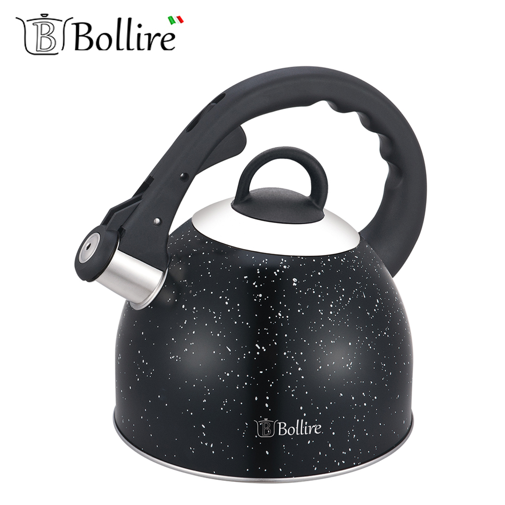 Water Kettles BOLLIRE BR-3009 teapot with a whistle cookware for kitchen devices household
