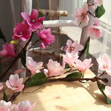 Long 180cm 2018 DIY Artificial Magnolia vine for Wedding Decorative Fake Silk Flower Home party Decor