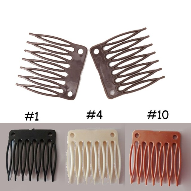 50pcslot Plastic Wig Combs Clips 7 Teeth Hair Extension Clip For
