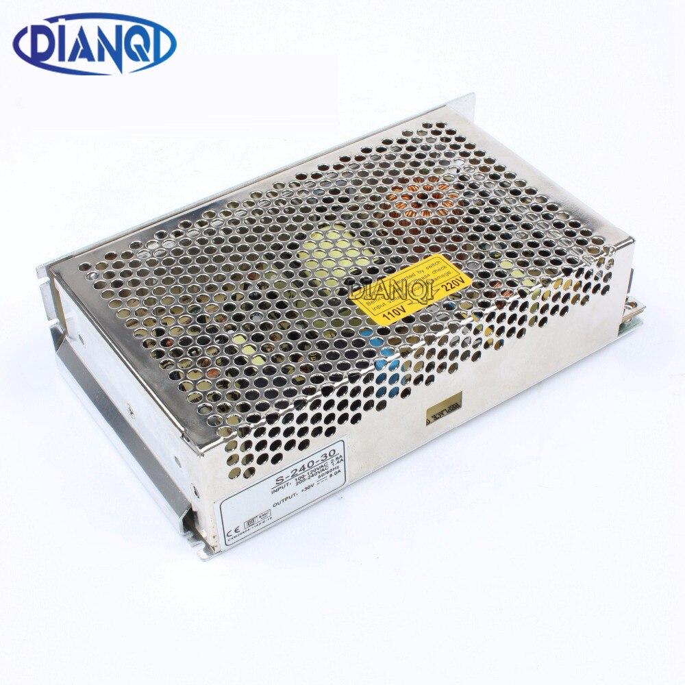 DIANQI Switch Power Supply LED light strip power suply 30v 240w ac to dc power supply ac dc converter 240w 30v S-240-30