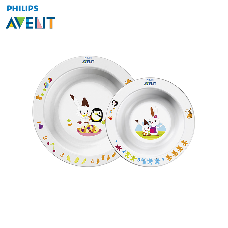 Dishes Philips Avent SCF708/00, set two dishes feedkid two tone handle eye brush set 3pcs