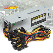 95% Efficiency 2400W 24Pin 10GPU Mining Power Supply For Eth Rig Ethereum Bitcoin Miner 90 PLUS Gold