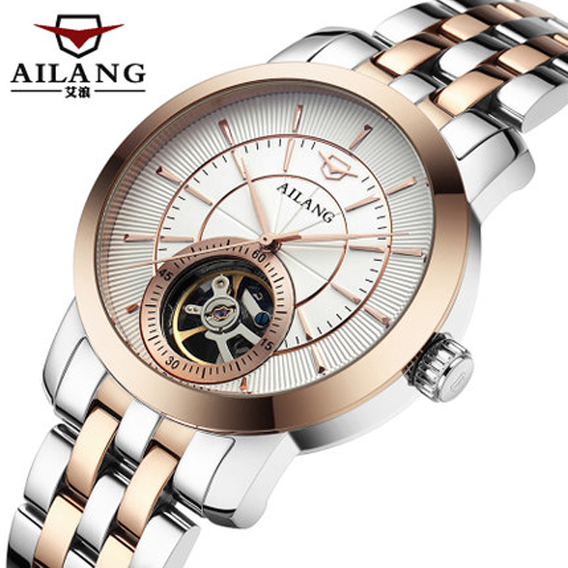 AILANG Men's Mechanical Watches Automatic Wristwatches Automatic Stainless Steel Full-Time Water Resistant Watch Brand Watch pagani men stainless steel watches mechanical wristwatches automatic self wind complete calendar water resistant clock brand