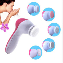 5 in 1 Electric Facial Cleanser Wash Face Cleaning Machine Pore Cleaner Body Cleansing Massage Mini Skin Beauty Massager Brush цены