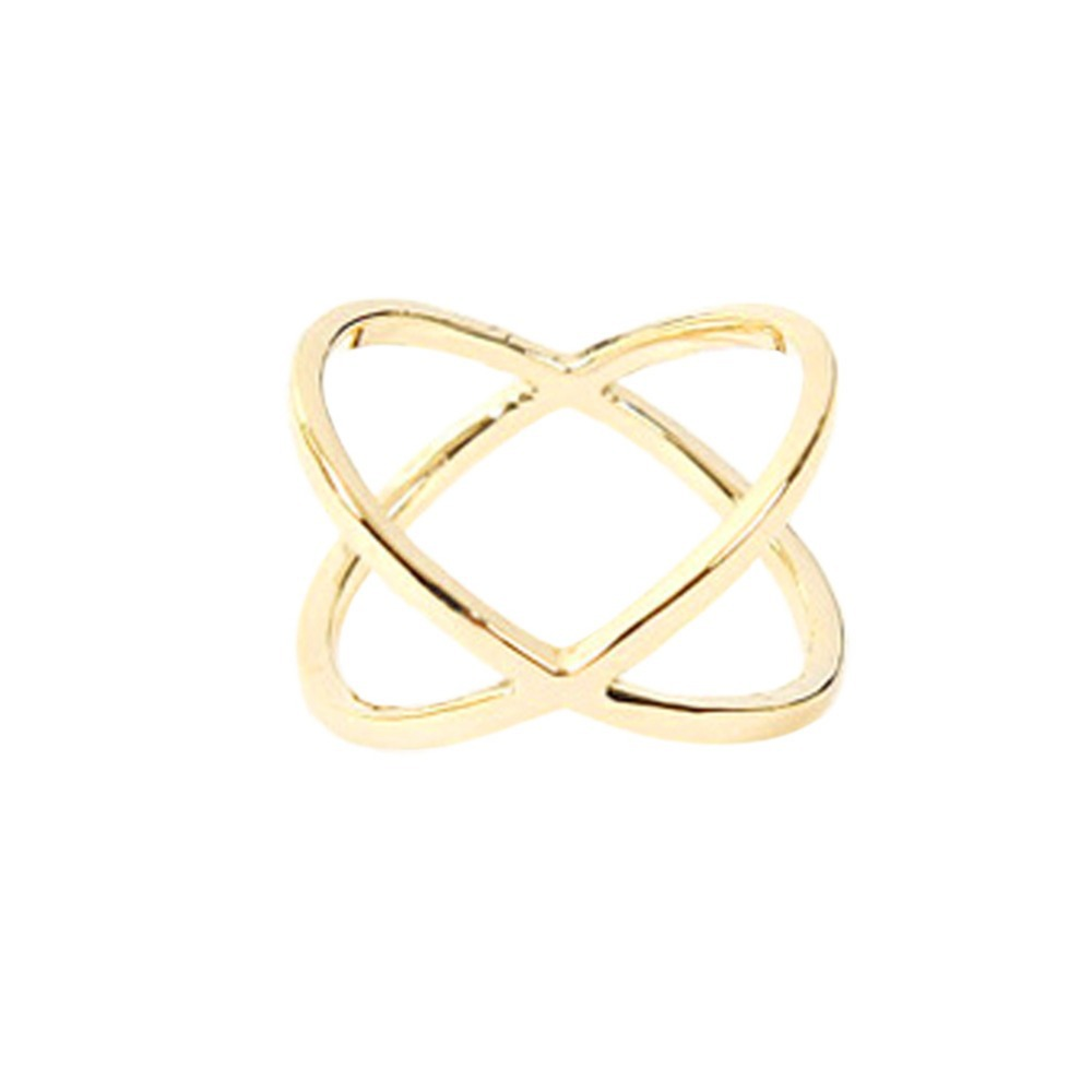 Fashion Of The New X Thermal Model Of Finger Gelenke Women Surrounding Three-dimensional Hollow Ring Cross Ring-0298