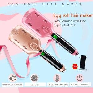 Image 2 - Professional 26/32 mm Wave Curling Iron Ceramic Hair Curler Deep Wavy Curler  LED Temperature Hair Three Tube Hair Curler Roller