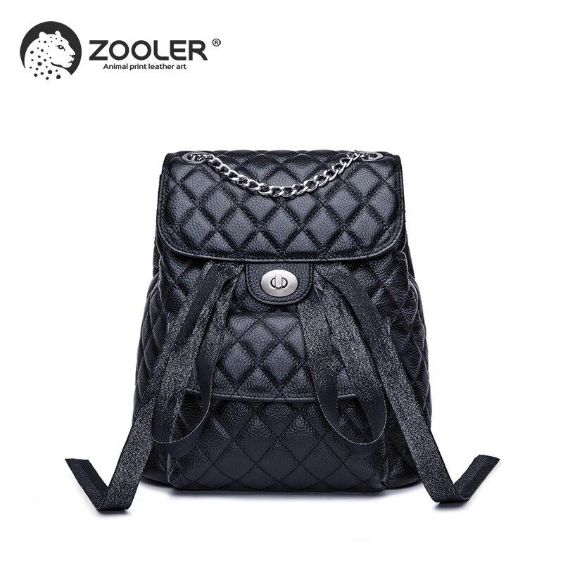 ZOOLER Brand leather bags wo backpack elegant black girls school backpack large capacity women bags travel bolso mujer #LT202