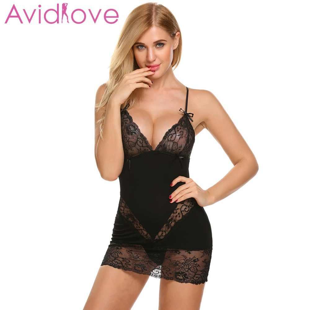 145fda2ba6b Detail Feedback Questions about Avidlove Sexy Nightgown Cotton Sleepwear  Nightwear Women Strap Lace Sexy Babydoll Chemise Nightie Nightdress Female  Nighty ...