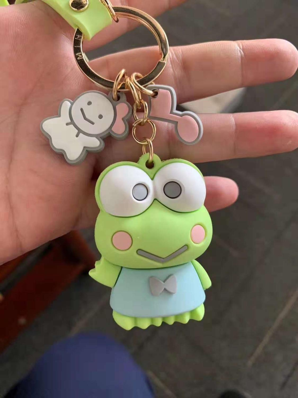 2019 New H1!!! Keroppi Hello K Melody PVC Keychain Phone Rope Strap Charm Cords Lariat Clip Lanyards Toys Doll Figure
