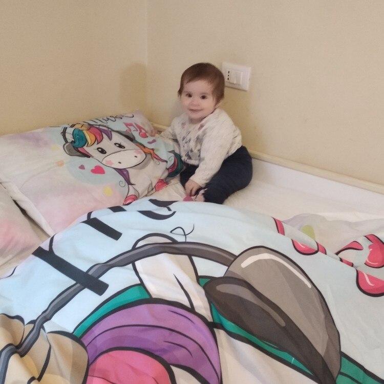 Love Music Unicorn Bedding set photo review