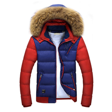 3 Color Fashion Brand Winter Men's Down Jacket With Fur Hood Hat Slim Men Outwear Coat Casual Thick Mens Jackets 4XL ea 7