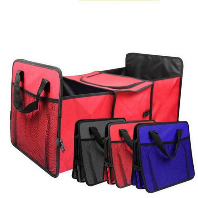 Car Trunk Storage Container Bag Foldable Multi Function Pack Insulation  Storage Bags 3 Layers Car