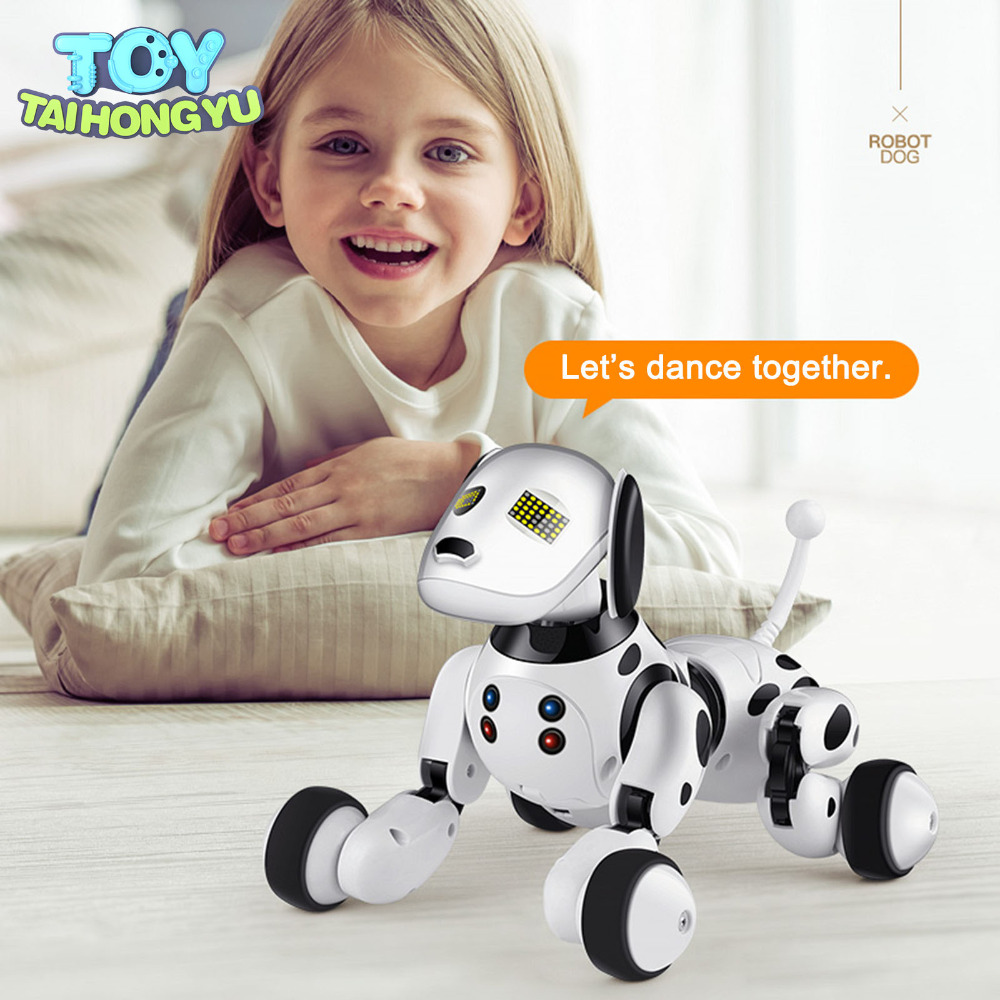 TAIHONGYU RC Smart Dog Toy Sing Dance Walking Wireless Remote Control Robot Dog Electronic Pet Children Educational birthday gift rc walking dog 2 4g wireless remote control smart dog electronic pet educational children s toy robot dog