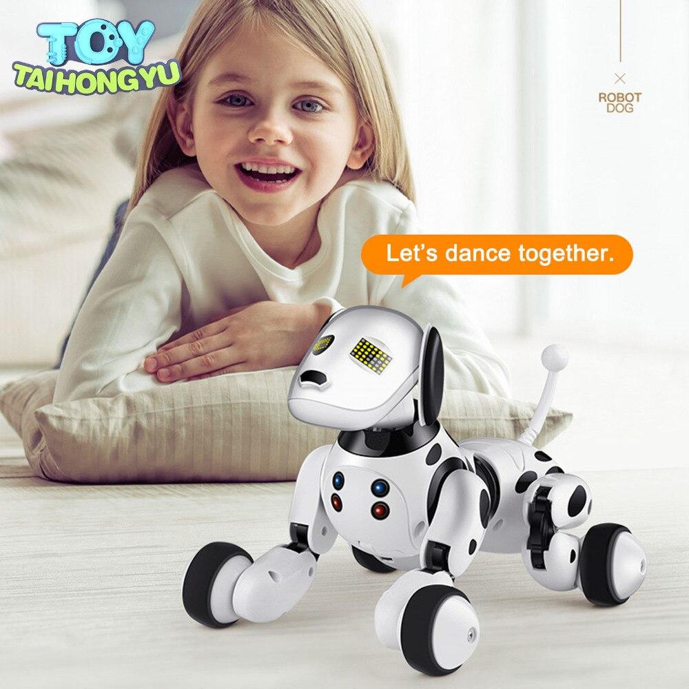 TAIHONGYU RC Smart chien jouet chanter danse marche sans fil télécommande Robot chien électronique Pet enfants éducatifs