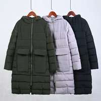 Parkas Women Plus Size Jacket Winter Coat Winter Long Black Green Grey Parka Cotton Padded Jacket Woman Winter Jackets Coat