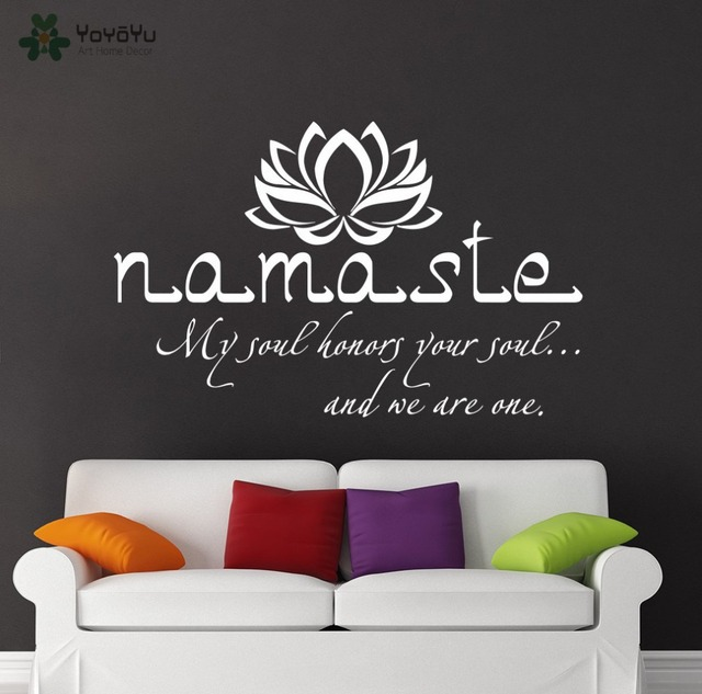 Wall decal vinyl sticker namaste quote buddha lotus flower bedroom wall decal vinyl sticker namaste quote buddha lotus flower bedroom yoga studio removable wall decor mural mightylinksfo