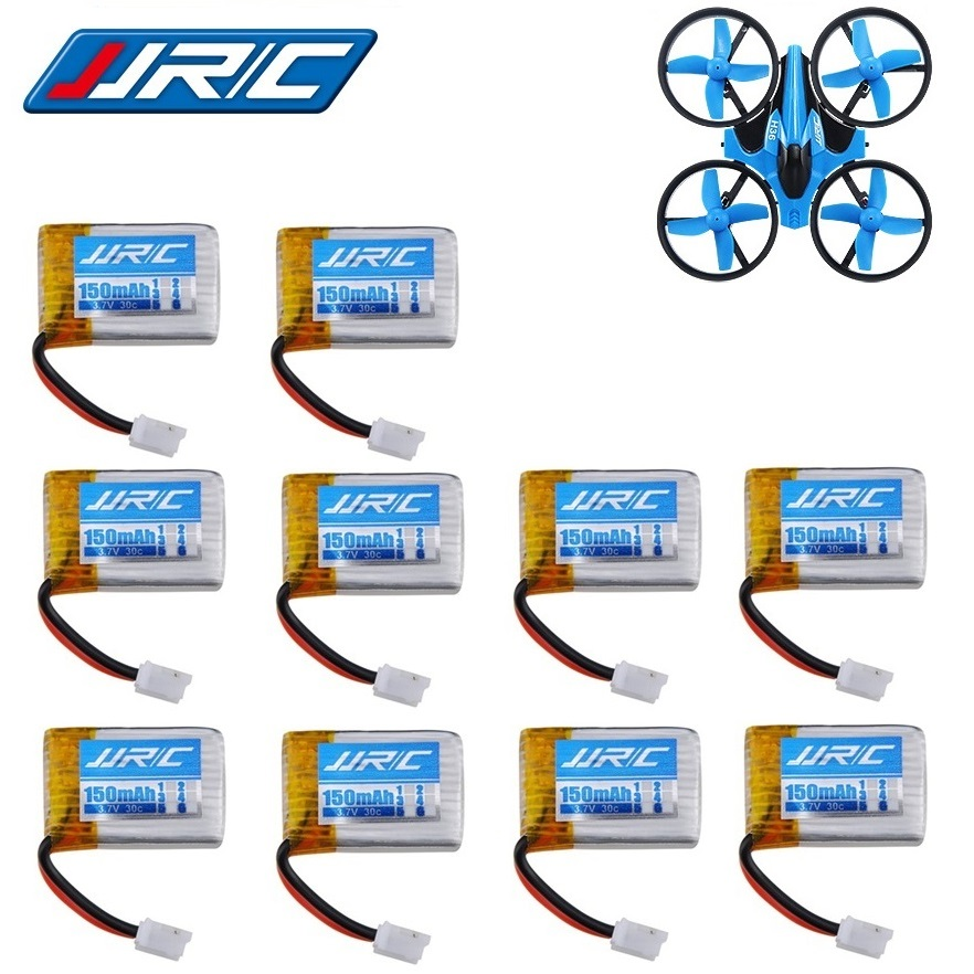 10pcs JJRC H36 3.7v 150mah 30C For Eachine E010 E010C E011 E013 F36 NH010 Battery RC Quadcopter Spare parts 3.7v LIPO Battery 5x 3 7v 150mah 20c battery and usb cable set for jjrc h20 rc quadcopter 3 7v 150mah 20c battery rc helicopter parts
