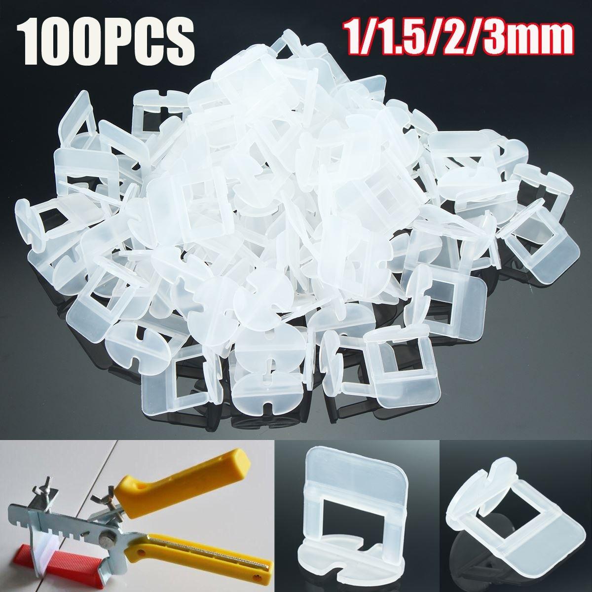 1 Satz/100 Stücke 1/1. 5/2/3mm Fliesen Nivellierung Abstandshalter Clips Bodenbelag Fliesen Werkzeug für Raimondi System