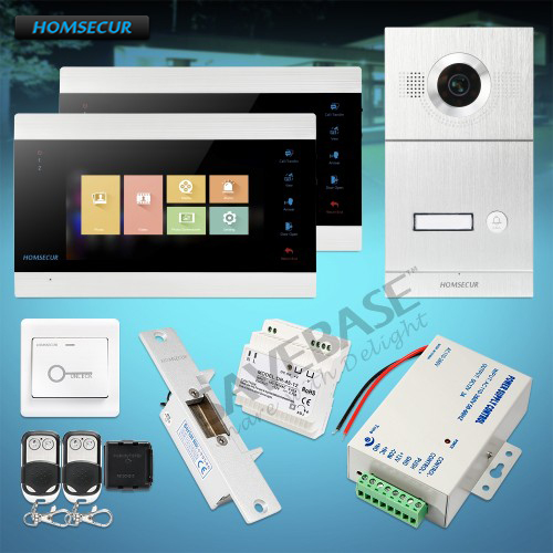 HOMSECUR 7 Video&Audio Smart Doorbell 1.3MP Electric Strike Lock Set Included (BC121HD-1S +BM705HD-B)HOMSECUR 7 Video&Audio Smart Doorbell 1.3MP Electric Strike Lock Set Included (BC121HD-1S +BM705HD-B)
