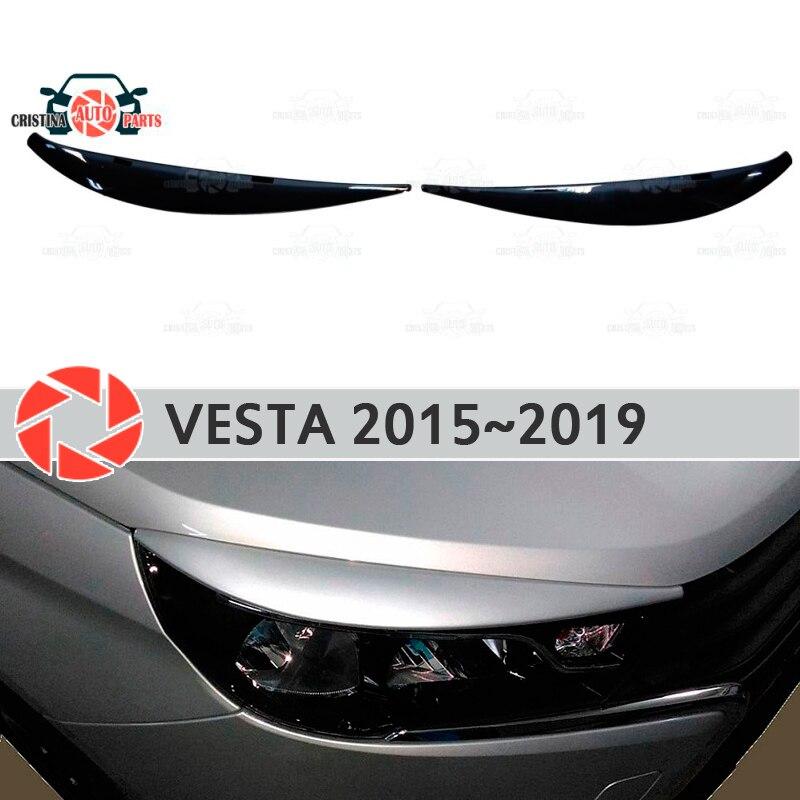 Cejas para Lada Vesta 2015 2019 para faros cilia pestañas molduras de plástico decoración molduras para decoración de coches