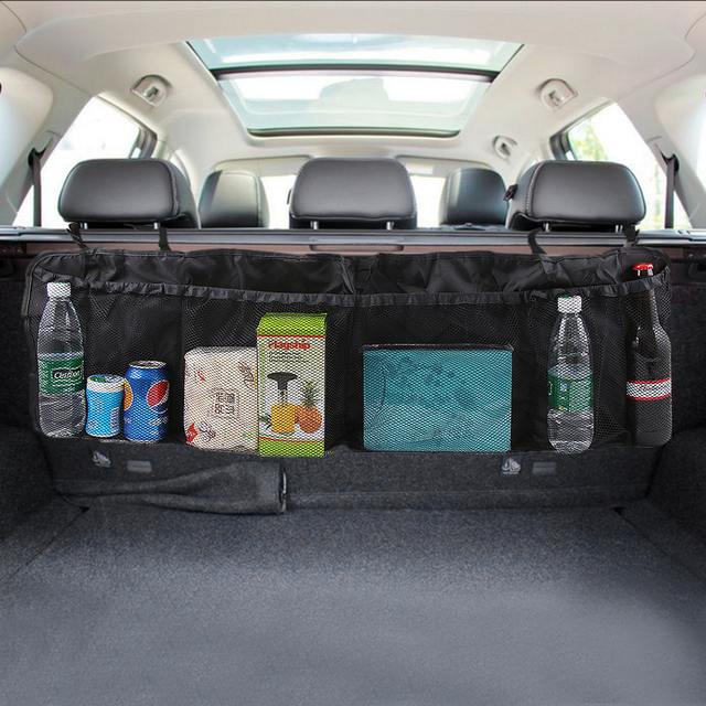 car organizer back seat storage net car cup holder auto mobile phone storage pouch multi pocket. Black Bedroom Furniture Sets. Home Design Ideas