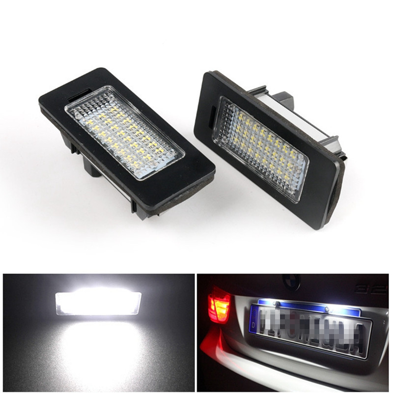 2pcs 6000k Led Number License Plate Light 24SMD 3w Led Car Number Plate For BMW E39 E60 E61 E70 E82 E90 E92 2pcs lot 24 smd car led license plate light lamp error free canbus function white 6000k for bmw e39 e60 e61 e70 e82 e90 e92