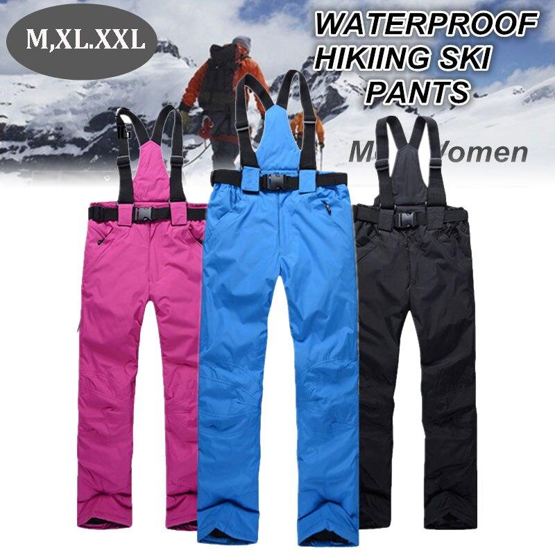 Pantalon de Ski chaud imperméable pantalons de Sports de plein air d'hiver pantalon de Ski coloré de haute qualité pantalon de Snowboard solide sports de neige d'hiver