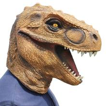 1 Pc Halloween Mask Fancy Emulsion Dress Party Props Dinosaur Headgear Head Cover for Men and Women