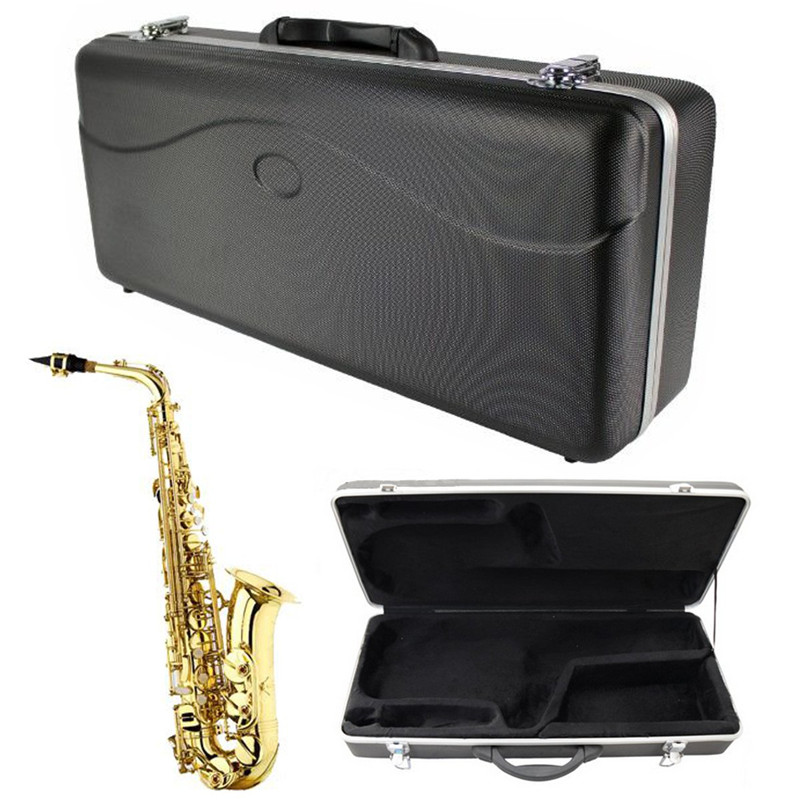 Instrument Protection Vintage Hardshell ABS Alto Saxophone Case Sax Bag Cover For Sax Woodwind Musical Instruments Lover Gift black nickel body silver keys alto saxophone sax musical instruments