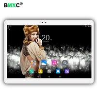 O envio gratuito de 10.1 polegada tablet PC Android 6.0 chamada de Telefone 3G 4G LTE octa core 1920x1200 IPS 4 + 64 Dual SIM tablets Pcs WiFi 5 Ghz