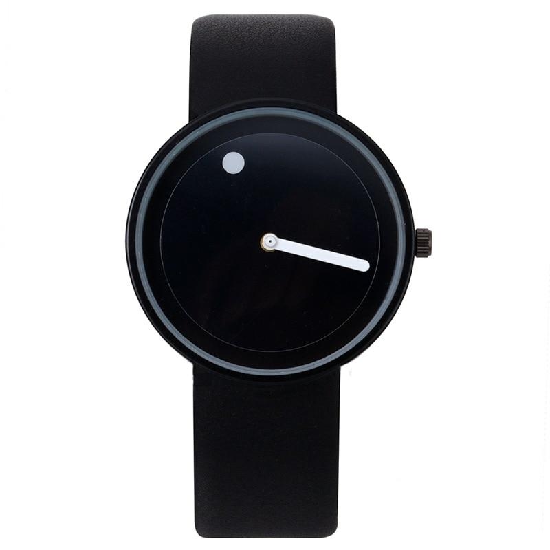 Fashion Creative Watches Women Men Quartz-watch Brand Unique Dial Design Lovers Watch Leather Wristwatches Clock Erkek Kol Saati