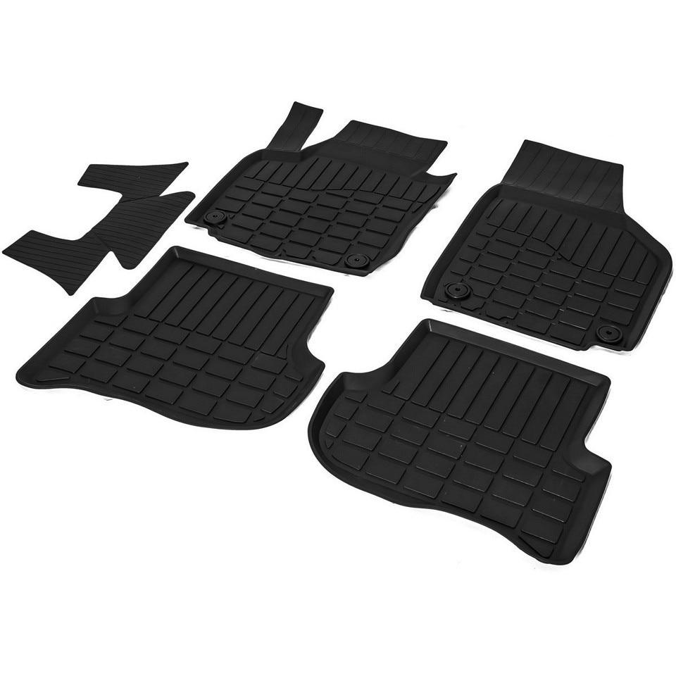 For Skoda Yeti 2009-2018 rubber floor mats into saloon 5 pcs/set Rival 65103001 rubber floor mats into saloon for skoda rapid 2013 2019 5 pcs set rival 65102001