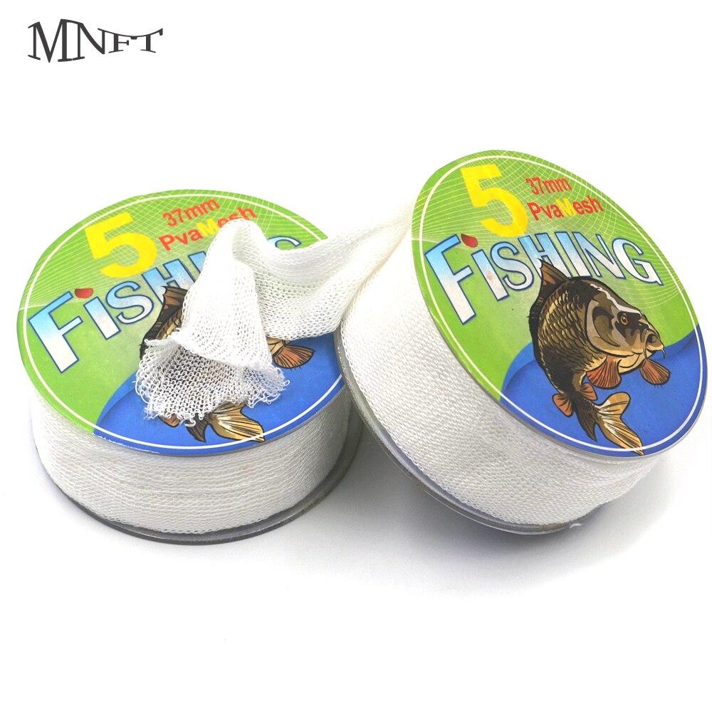 MNFT 6Pcs Carp Fishing PVA Mesh Refills for The Tube Bags 37mm*5m Coarse Carp Fishing Bait Bags Accessories