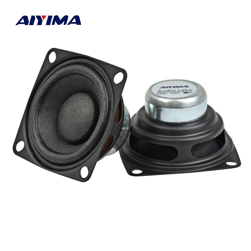 AIYIMA 2 шт. 2 дюйма 52 мм аудио Портативный Динамик s 8Ohm 10 Вт DIY полный спектр анти-магнитная ткань средней НЧ-динамик Динамик