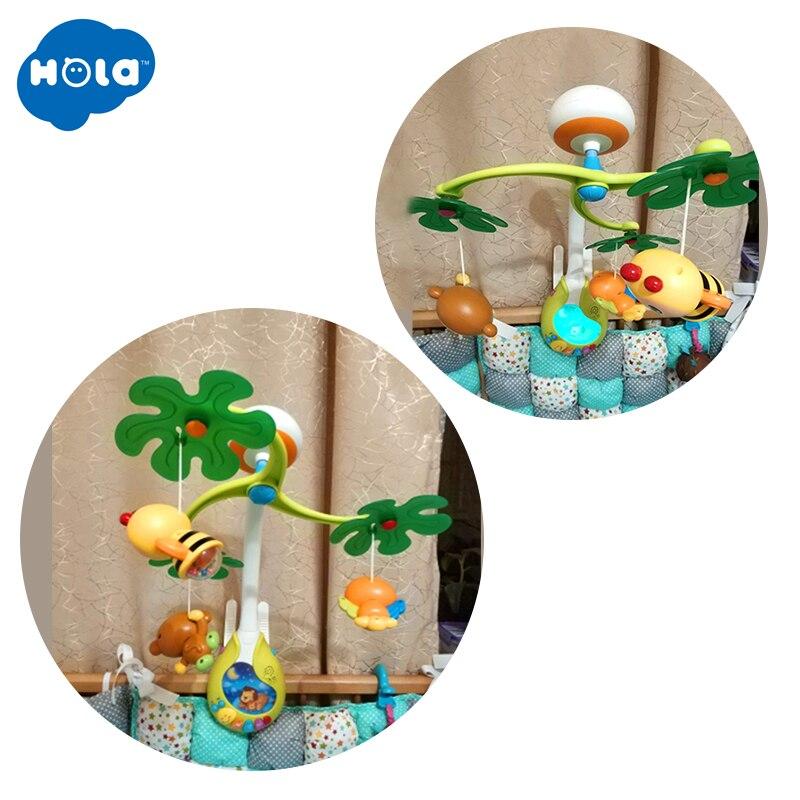 HOLA 818 bébé jouets pépinière lit Mobile avec berceuse musicale sons hochet rotatif loisirs sol lit cloche 0-12 mois - 3