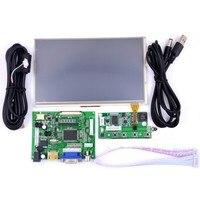 ערכת מסך מגע פטל Pi 7 אינץ מסך LCD + מגע/LCD נהג לוח + USB/קשת/+ קו כבל מפתח ארוך לוח