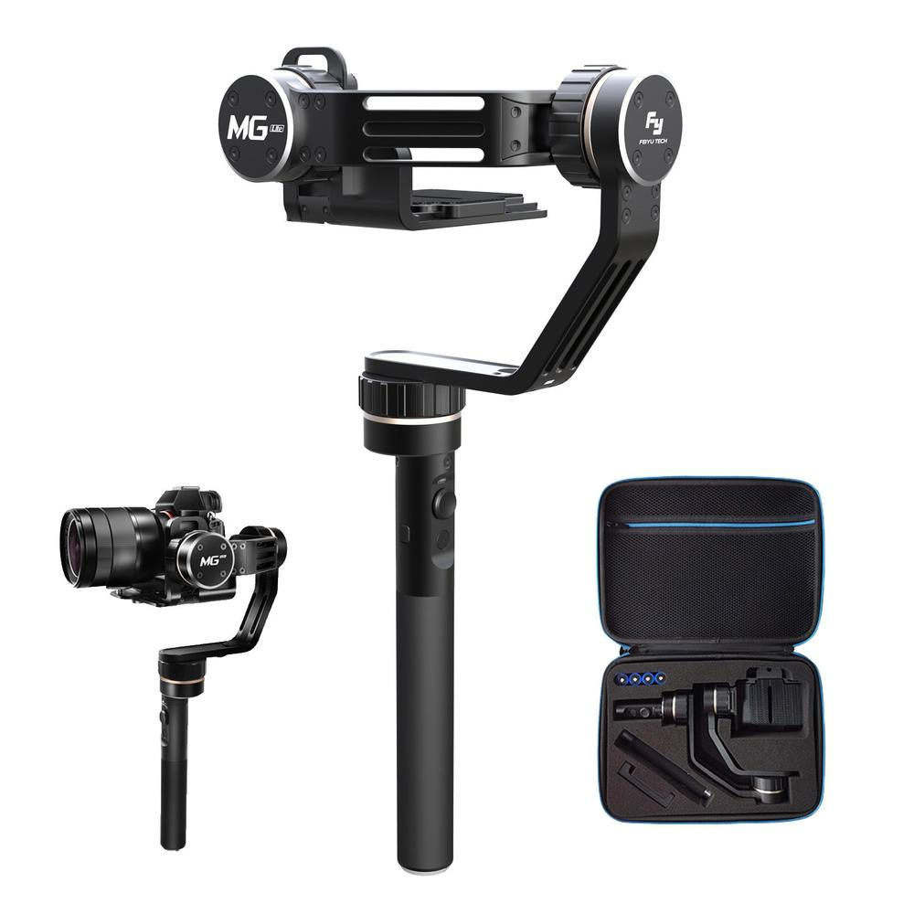 Feiyu FY-MG Lite 3 Axis Handheld Mirrorless Camera Gimbal Stabilizers Tripods&Supports for Sony A7 S R II A6000 A6300, Fujifilm yuneec q500 typhoon quadcopter handheld cgo steadygrip gimbal black