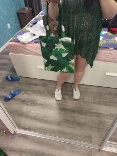 Green banana leaves polyester bag shopping foldable tote bags school teenage satchel inclined shoulder bag messenger bag photo review