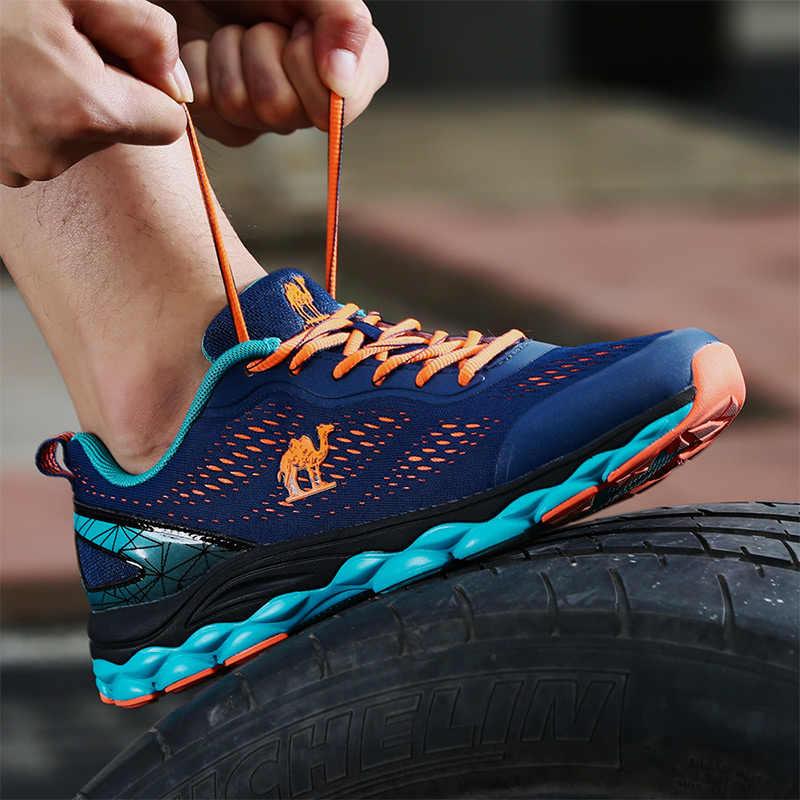 Kameel Mannen Loopschoenen Professionele Sneakers Marathon Mannen Beginner Waterdicht Lace-Up Outdoor Sport Gym Fitness Ademend