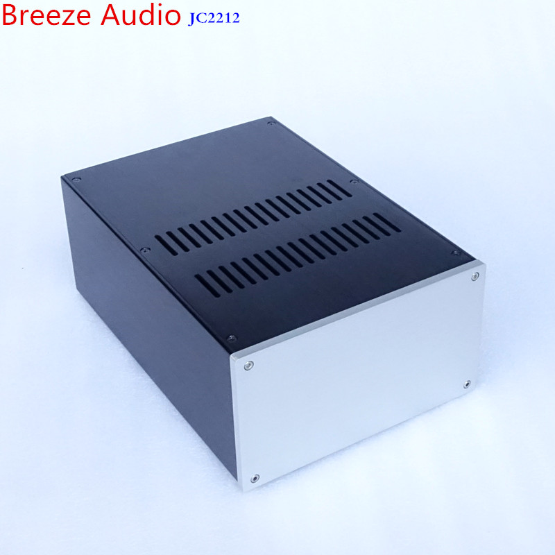 Breeze Audio aluminum chassis power case preamp chassis tube amplifier case decoder case power case JC2212 box breeze audio power amplifier aluminum chassis amp case bz3207s box