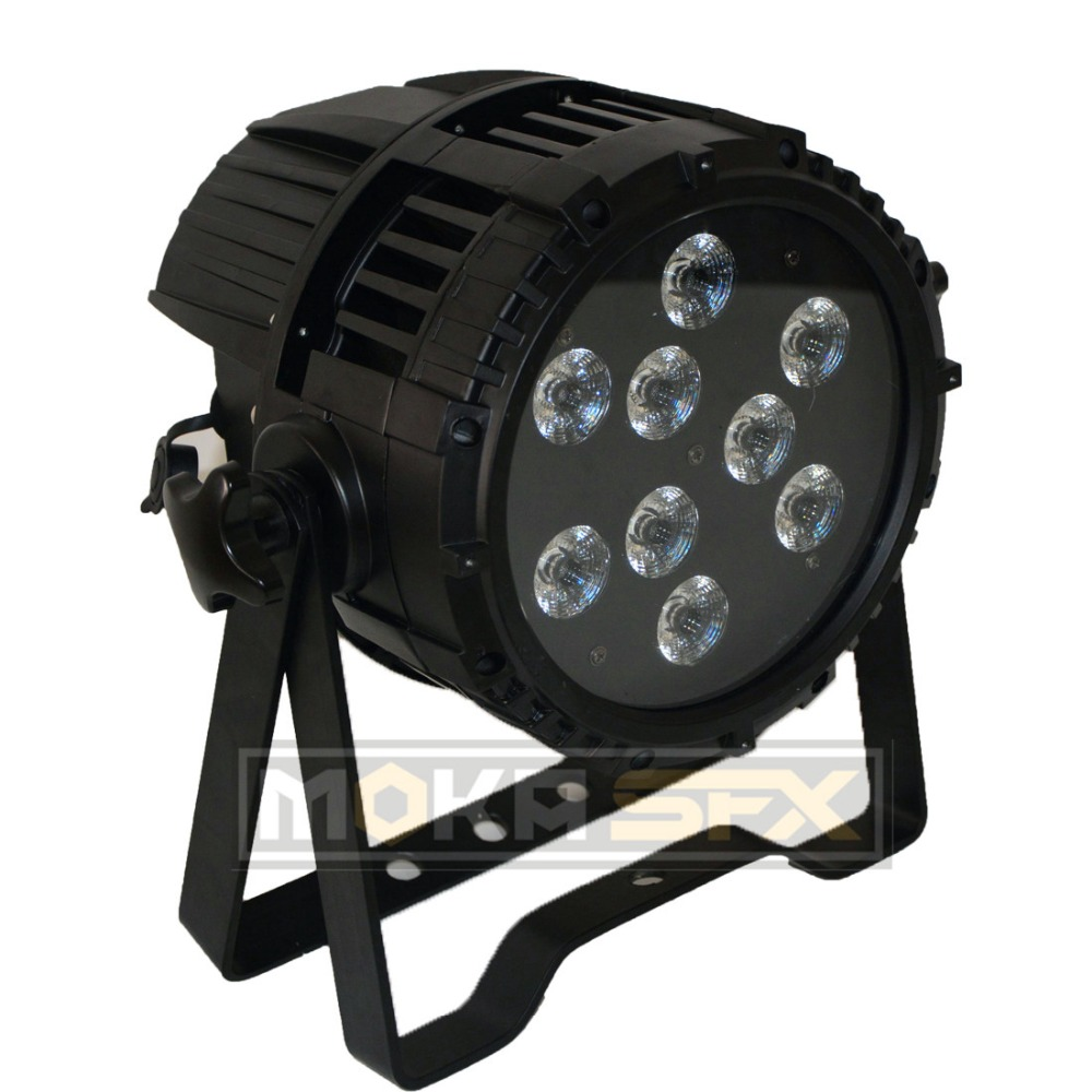 6pcs/lot Outdoor 9*18W Par Lights RGBWAUV 6IN1 Waterproof Battery Powered LED Up Lighting DMX For Nightclub Wedding Event Party
