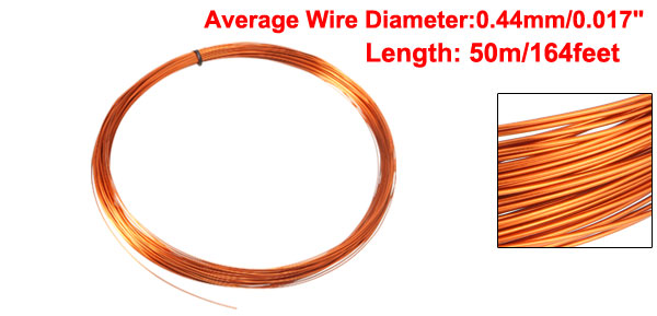 uxcell 0.67mm Dia Magnet Wire Enameled Copper Wire Winding Coil 49.2 Length Widely Used for Transformers Inductors