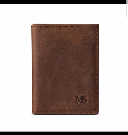 MS Hot Men Crazy Horse Genuine Leather Slim Wallet Business Casual Credit Card ID Holder Money Card Holder Purse Brown K100 photo review