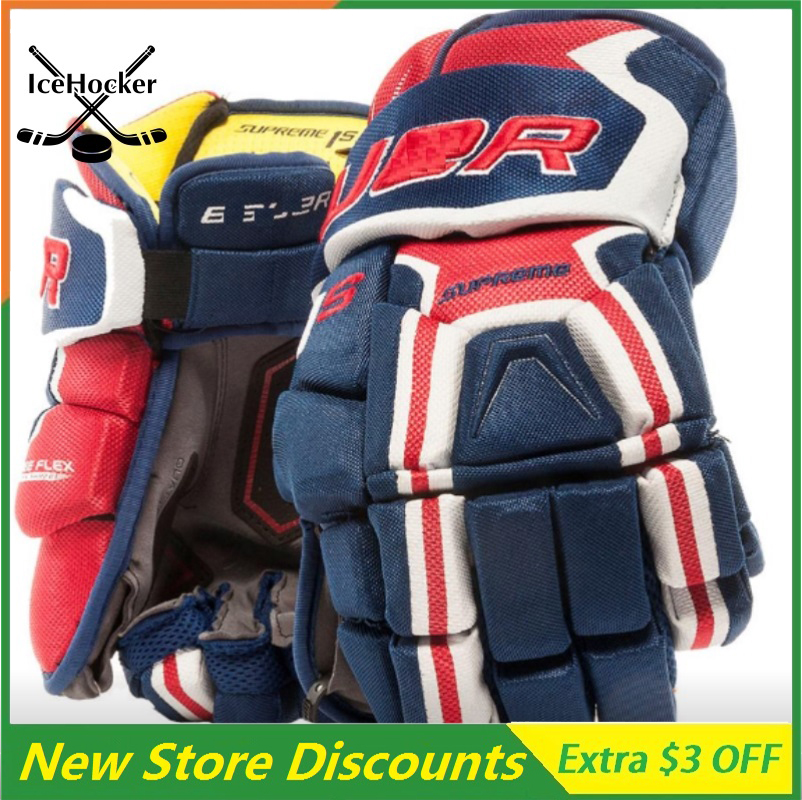 Popular Color Ice Hockey Gloves Highest Protective Navy/Red/White Senior 13 14 Free ShippingPopular Color Ice Hockey Gloves Highest Protective Navy/Red/White Senior 13 14 Free Shipping