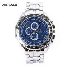 Top Fashion Brand ZHEFANKU Men Watch Luxury Casual Clock Sports Quartz Wrist Watch Men Clock Relogio Masculino Relogio Saat