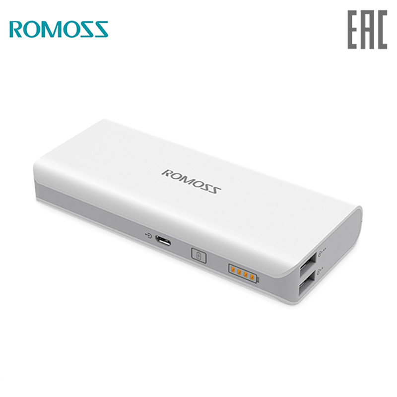 10 000 mAh Power bank Romoss Solo 5 solar power bank externa bateria portable charger for phone jz 1 6000mah portable li polymer battery power bank w usb cable white