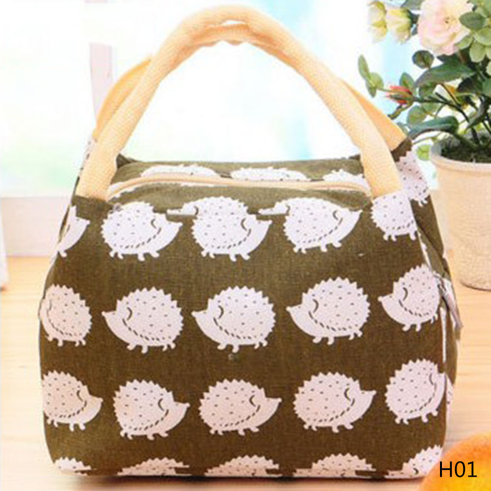 2018 Hot Variety Pattern Lunch Bag Portable Insulated Canvas Lunch Bag Thermal Food Picnic Lunch Bags For Women Kids
