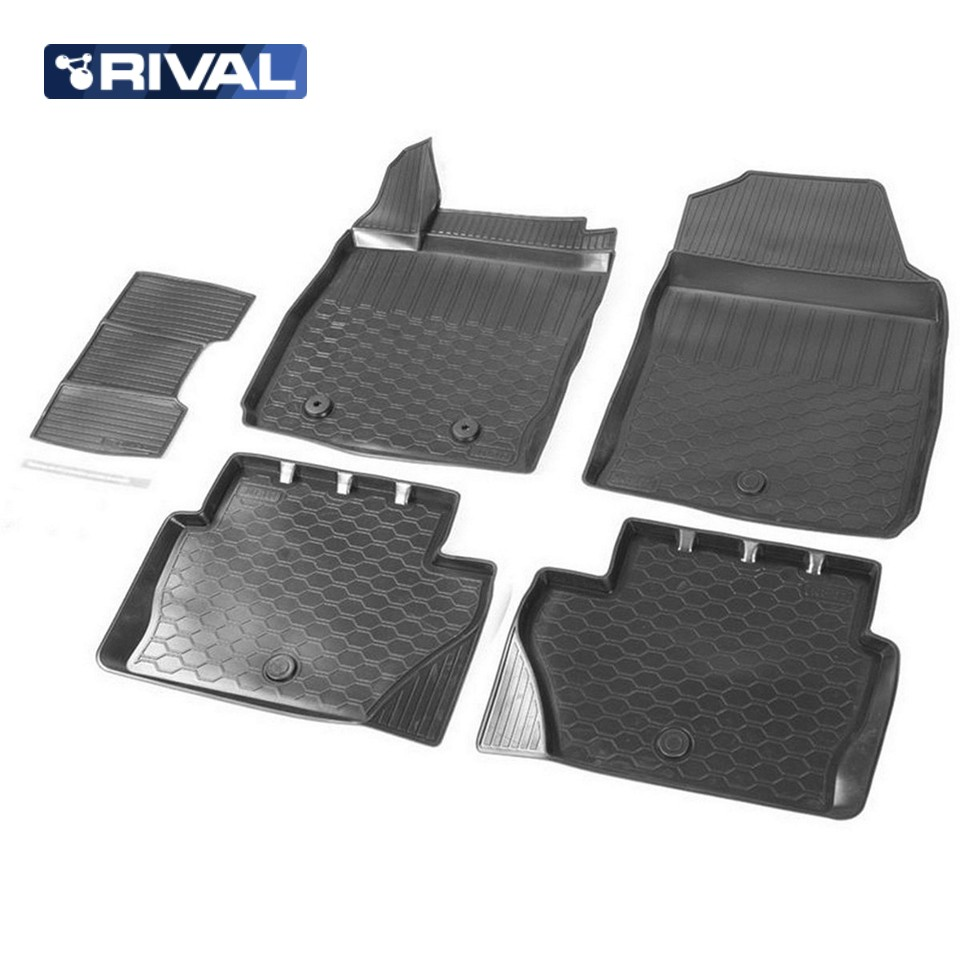 цена на For Ford Ecosport 2013-2019 3D floor mats into saloon 5 pcs/set Rival 11803001